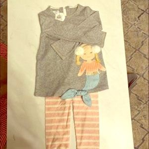 Mermaid tunic and leggings-5t